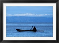 Framed Canoe on Lake Tanganyika, Tanzania
