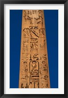 Framed Egypt, Temple of Luxor, Hieroglyphics, Obelisk of Ramesses II