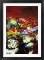 Framed Double exposure, casino signs, Reno, Nevada