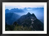 Framed Great Wall in Early Morning Mist, China