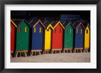 Framed Colorful Bathing Boxes, South Africa