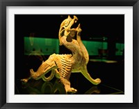 Framed China, Shanghai, Bixie Mythical Beast Statue