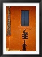 Framed Adinkra Symbols on Shrine to Nana Yaa Asantewaa, Ejisu, Ghana