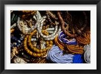 Framed Detail of Beads for Jewelry Making, Makola Market, Accra, Ghana