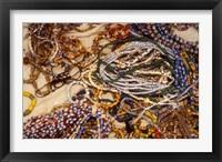 Framed Beadmaker Displaying Samples, Asameng, Ghana