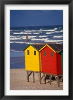 Framed Yellow and Red Bathing Boxes, South Africa