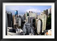 Framed Apartment Buildings of Causeway Bay District, Hong Kong, China