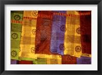 Framed Detail of Adinkra Cloth, Market, Sampa, Brongo-Ahafo Region, Ghana