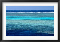 Framed Fisherman, Wooden Boat, Panorama Reef, Red Sea, Egypt