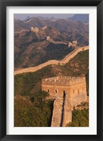 Framed Great Wall at Sunset, Jinshanling, China