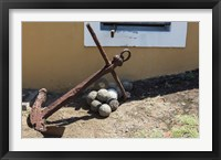 Framed Africa, Mozambique, Maputo. Anchor and cannonballs at the Old Fort.