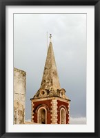 Framed Africa, Mozambique, Island. Steeple at the Governors Palace chapel.