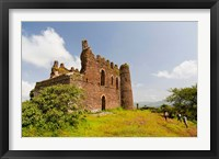 Framed Guzara Castle between Gonder and Lake Tana, Ethiopia