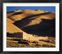 Framed Afghanistan, Bamian Valley, Caravansary, Hindu Kush