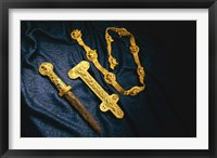 Framed Dagger, Sheath and Belt of Warrior, Gold Artifacts From Tillya Tepe Find, Six Tombs of Bactrian Nomads