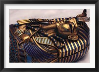 Framed Gold Coffinette, Tomb King Tutankhamun, Valley of the Kings, Egypt