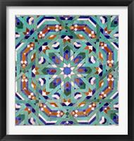 Framed Hassan II Mosque Mosaic, Casablanca