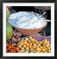 Framed Afghanistan, Tashkurghan, Bazaar stall cuisines