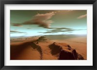 Framed Overhead view of a vast desert wilderness