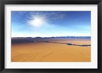 Framed river flows through this desert wilderness area