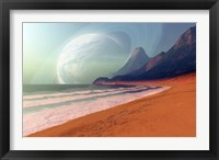 Framed Cosmic Seascape on an Alien Planet