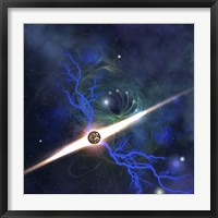 A brilliant star in the universe Framed Print