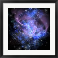 A spacial phenomenon in the cosmos Framed Print