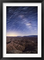 Framed Milky Way above the Borrego Badlands, California