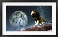 Framed Leo is the fifth astrological sign of the Zodiac
