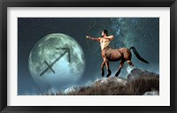 Framed Sagittarius is the ninth astrological sign of the Zodiac