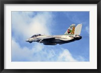 Framed F-14A Tomcat with special tail art applied for the Christmas holiday