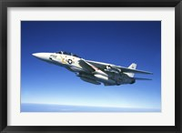 Framed US Navy F-14A Tomcat in flight