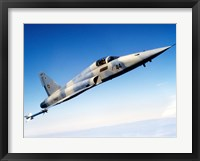 Framed F-5E Tiger II in flight