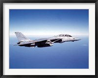 Framed F-14A Tomcat in flight above the Pacific Ocean