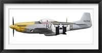 Framed P-51D Mustang, nicknamed Ferocious Frankie