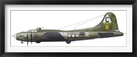 Framed Illustration of a Boeing B-17F Knockout Dropper aircraft