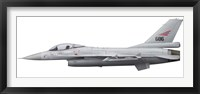 Framed General Dynamics F-16A Fighting Falcon of the Royal Norwegian Air Force