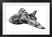 Framed Cartoon illustration of a Royal Air Force Vulcan bomber