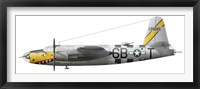 Framed Illustration of a Martin-B-26 Marauder
