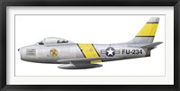 Framed Illustration of a North American F-86F Sabre