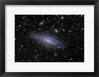 Framed NGC7331 Galaxy and its companion galaxies