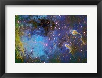 Framed IC 410, The Tadpole Nebula