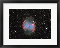 Framed M27 the Dumbbell nebula
