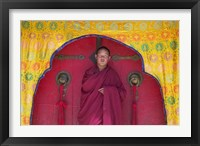 Framed Monks in Sakya Monastery, Tibet, China