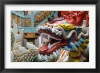 Framed Hong Kong, Goddess of Mercy, Dragon statue