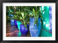 Framed Jardin Majorelle and Museum of Islamic Art, Villa Pottery, Marrakech, Morocco