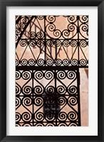 Framed Iron gate, Moorish architecture, Rabat, Morocco