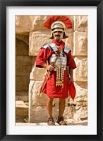 Framed Jordan, Jerash, Reenactor, Roman soldier portrait