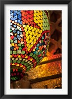 Framed Lamp in antique shop, Marrakech, Morocco