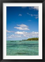 Framed Ile Aux Cerf, East end of Mauritius, Africa